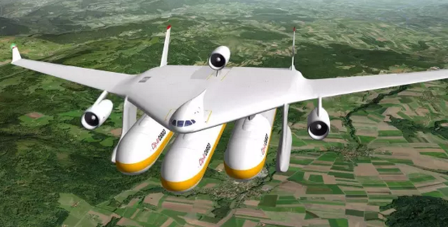 他们设计了一架飞机,竟然带着高铁飞上天了~